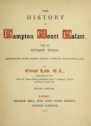 Cover of: History of Hampton Court Palace ...