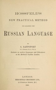Cover of: Hossfeld's new practical method for learning the Russian language