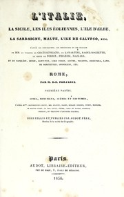 Cover of: L'Italie