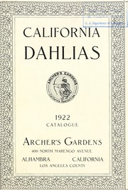 Cover of: California Dahlias | Archer