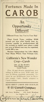Cover of: Fortunes made in carob | F.D. Cornell Company