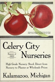 Cover of: Season of 1922 | Celery City Nurseries