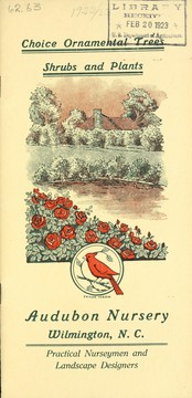 Cover of: Wholesale trade catalog for florists and nurserymen only | Audubon Nursery