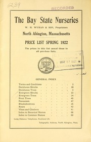 Cover of: Price list spring 1922