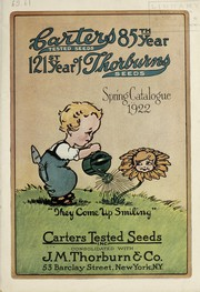 Cover of: Spring catalogue 1922 | Carters Tested Seeds, Inc