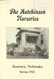 Cover of: Spring 1922 | Hutchinson Nurseries