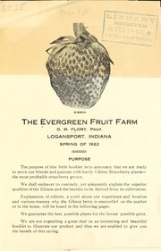 Cover of: Spring of 1922 | Evergreen Fruit Farm