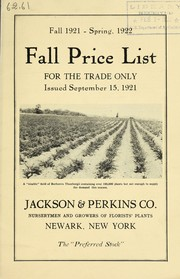 Cover of: Fall 1921-spring, 1922 | Jackson & Perkins Co