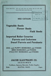Cover of: 1922 catalog | Jacob Kaufmann Co