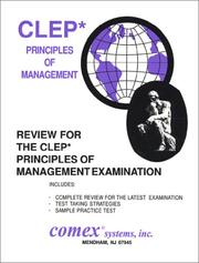 Cover of: Review for the CLEP Principles of Management