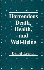 Cover of: Horrendous Death, Health And Well Being (Series in Death Education, Aging and Health Care)