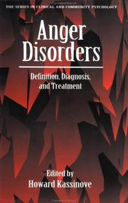 Cover of: Anger Disorders | H. Kassinove