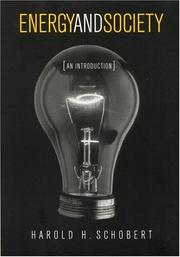 Cover of: Energy and society