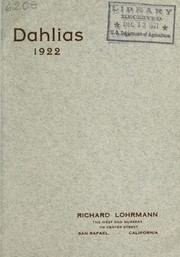 Cover of: Dahlias | Richard Lohrmann (Firm)