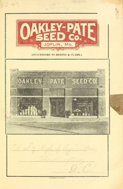 Cover of: Oakley-Pate Seed Co. [catalog] | Oakley-Pate Seed Co