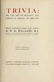 Cover of: Trivia, or, The art of walking the streets of London