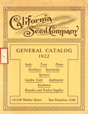 Cover of: General catalog | California Seed Company