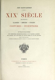 Cover of: XIXème siècle (en France)