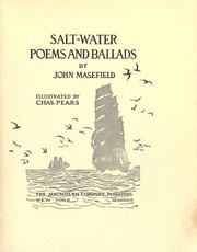 Cover of: Salt-water Poems and Ballads