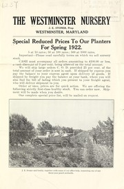 Cover of: Special reduced prices to our planters for spring 1922