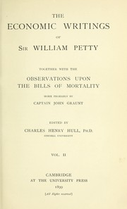Cover of: The economic writings of Sir William Petty