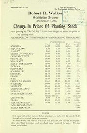 Cover of: Change in prices of planting stock | Robert R. Walker (Firm)