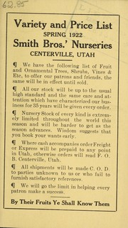 Variety and price list by Smith Bros.' Nurseries