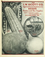 Cover of: Agricultural implements, seeds, poultry and bee supplies | I.W. Scott Company