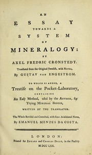 Cover of: An essay towards a system of mineralogy