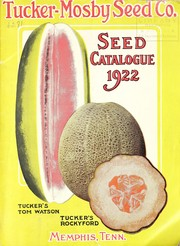 Cover of: Seed catalogue | Tucker-Mosby Seed Co