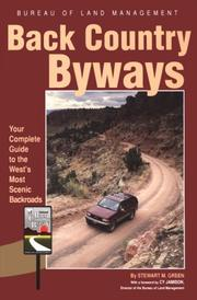 Cover of: Back Country Byways (Scenic Driving Series)