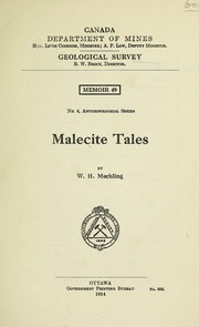 Cover of: Malecite tales