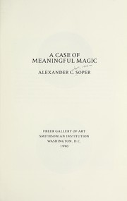 Cover of: A case of meaningful magic