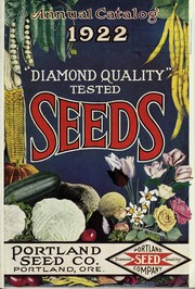 Cover of: Portland Seed Company's catalog and seed annual for 1922