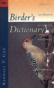 Cover of: Birder's dictionary