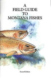 Cover of: A field guide to Montana fishes