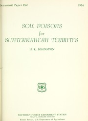 Cover of: Soil poisons for subterranean termites | H. R. Johnston