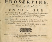 Cover of: Proserpine