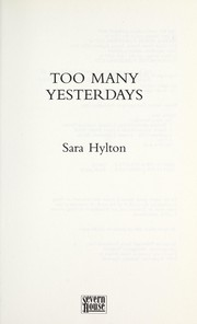 Cover of: Too many yesterdays