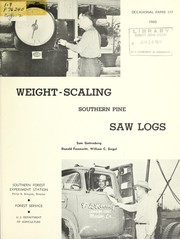Weight-scaling southern pine saw logs