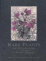 Cover of: Rare Plants of Colorado, 2nd