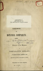 Cover of: Lezioni di botanica comparata