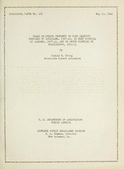 Cover of: Taxes on forest property in nine selected parishes of Louisiana, 1937-1940, in nine counties of Alabama, 1937-41, and in seven counties of Mississippi, 1936-41