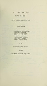 Cover of: [Report 1958] | Craven No. 1 Health Division