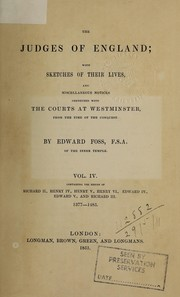 Cover of: The judges of England