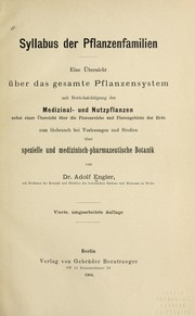 Cover of: Syllabus der Pflanzenfamilien | Adolf Engler