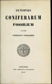 Cover of: Synopsis coniferarum fossilium