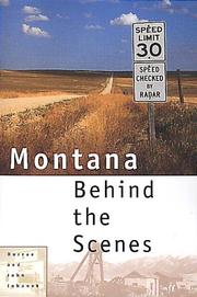 Cover of: Montana behind the scenes
