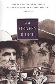 Cover of: An Ornery Bunch | WPA Montana