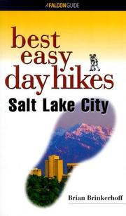 Cover of: Best Easy Day Hikes Salt Lake City | Brian Brinkerhoff